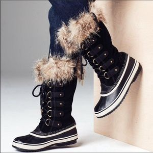 🆕 SOREL joan of arctic waterproof tall black boot